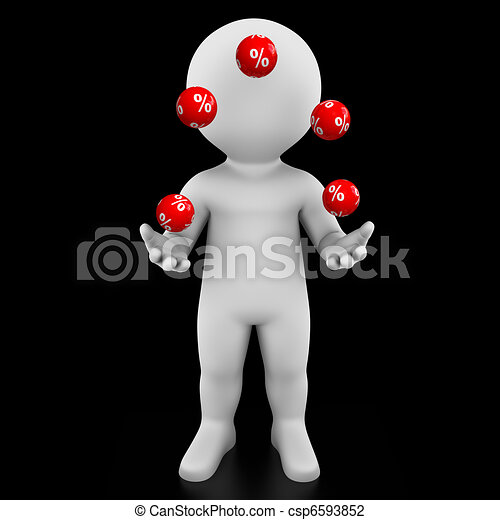 percent juggler - Bobby Series - csp6593852