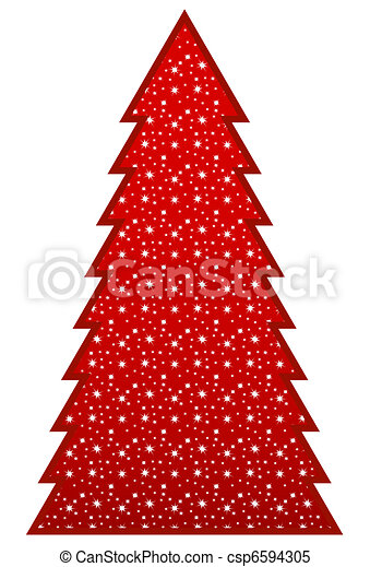Country Christmas Tree  - csp6594305