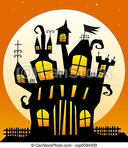 Haunted Castle - csp6594309