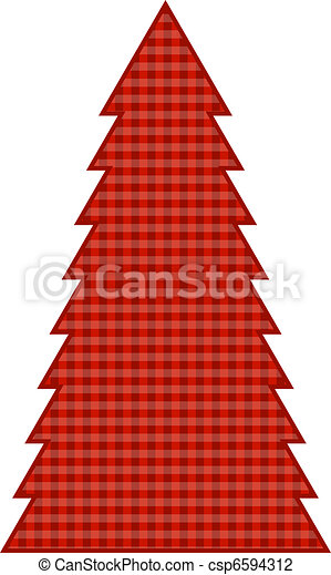 Country Christmas Tree - csp6594312
