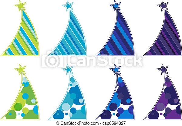 Contemporary Christmas trees - csp6594327