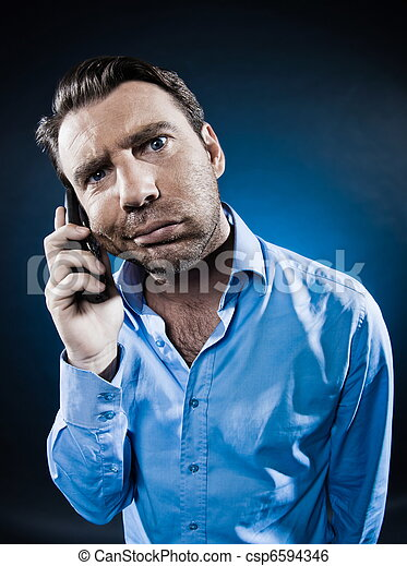 Man Portrait Frown bored - csp6594346