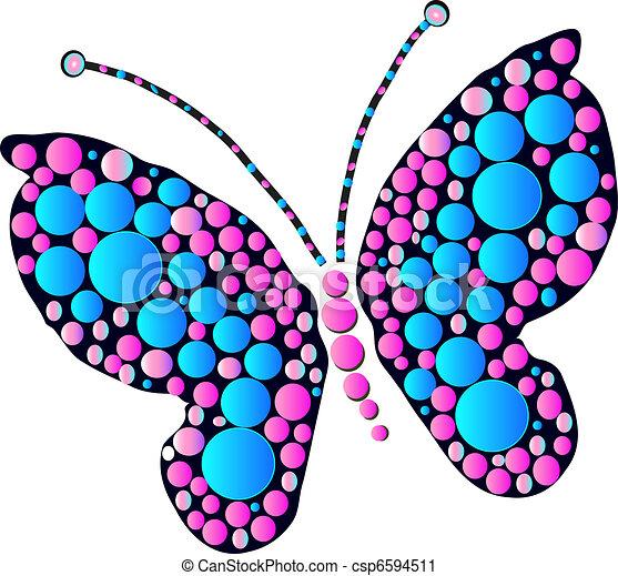 vector clip art de mariposa multicolor mariposa