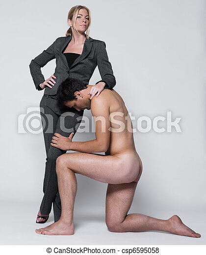 young couple with man naked - csp6595058