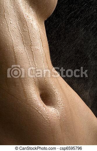 Anonymous wet studio nude - csp6595796