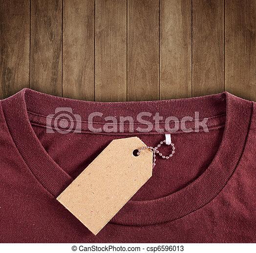 price tag hang over tshirt - csp6596013