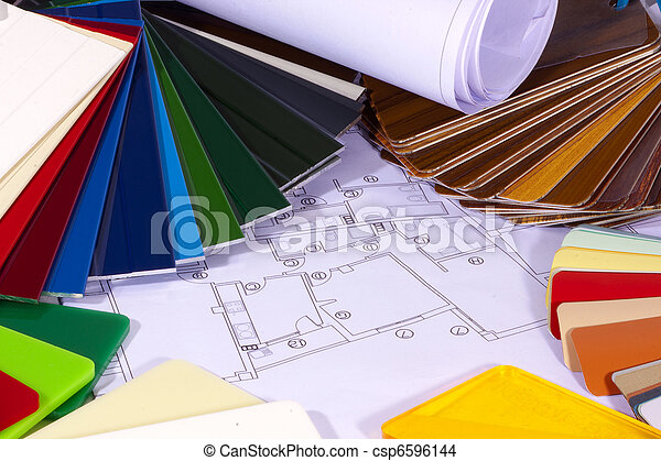 color chart for the construction and architecture - csp6596144