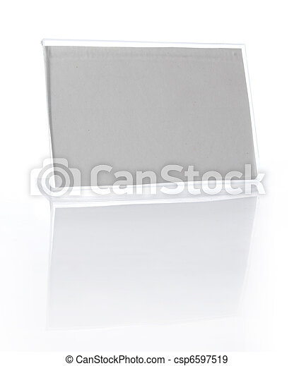 desk nametag isolated on white - csp6597519