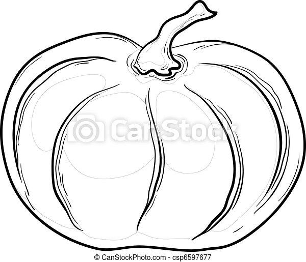 Pumpkin, contours - csp6597677