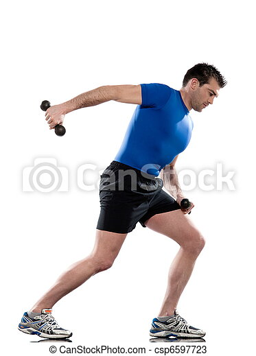 man doing workout Lunges