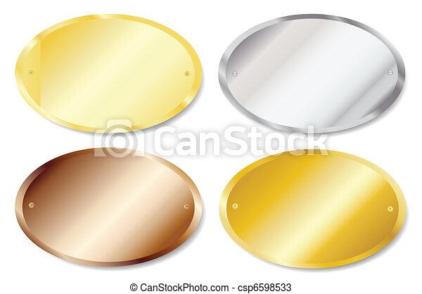 Door plaques oval - csp6598533