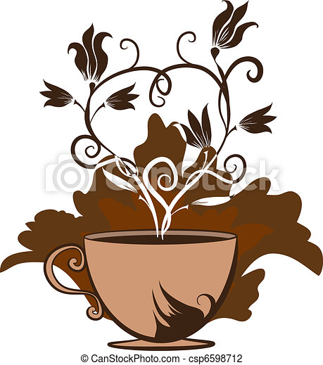 cup of coffee or tea  - csp6598712