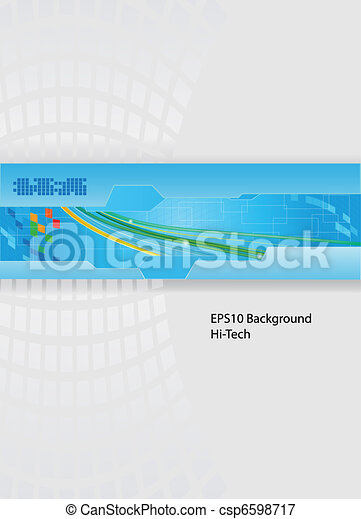Technology theme vector - csp6598717