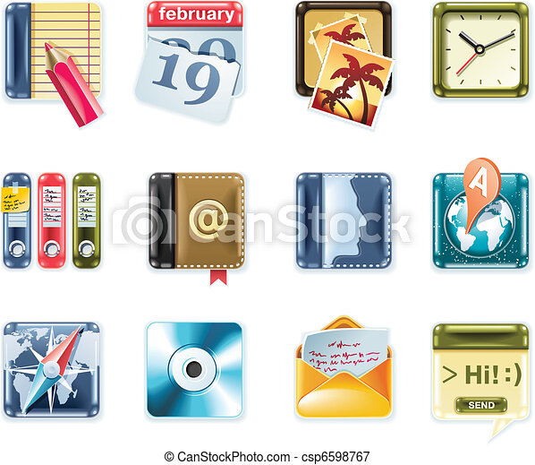 Vector universal square icons. P.1 - csp6598767