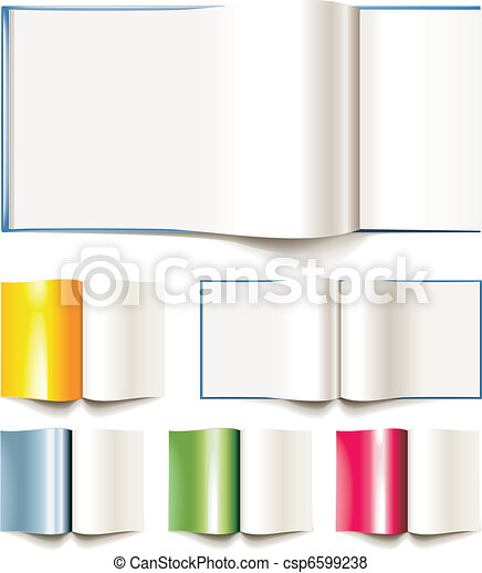 Set of vector blank books, brochure - csp6599238