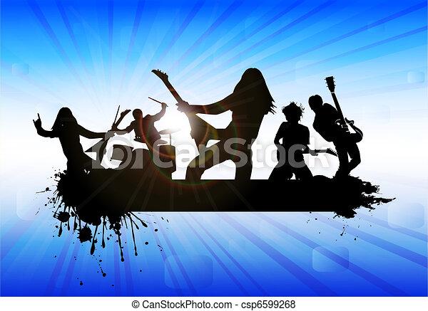 Rock band - csp6599268