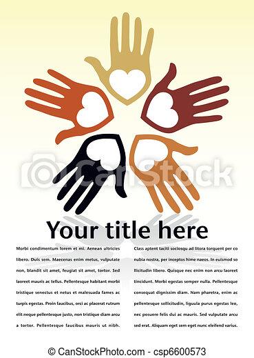 United loving hands design. - csp6600573