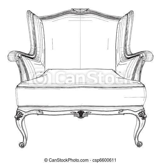 Antique Armchair  - csp6600611