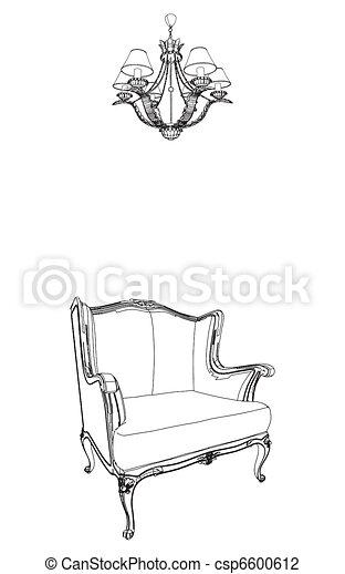 illustration vecteur de antiquit233 fauteuil lustre