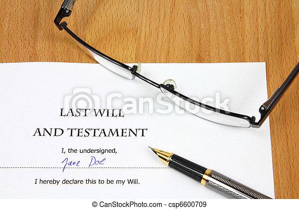 Last Will - Testament - csp6600709
