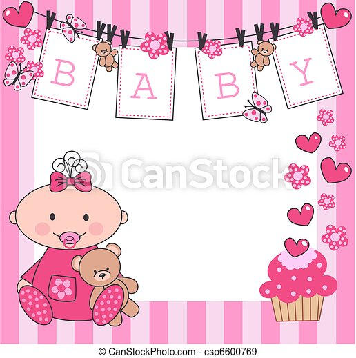 newborn baby girl - csp6600769