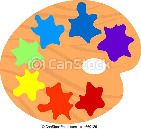 Illustration of Artistic palette - csp6601261