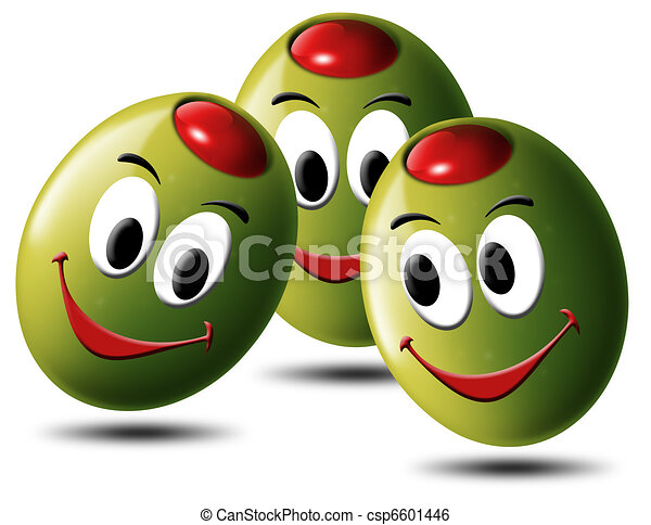 Olives filled with smile - csp6601446