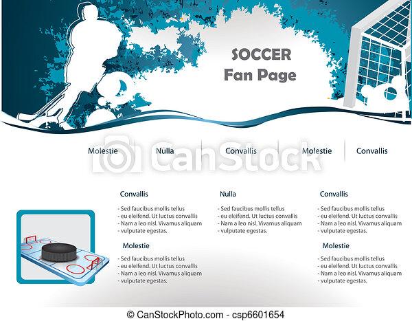 Hockey web site design template - csp6601654