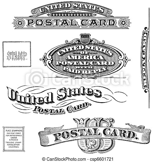 Vintage United States Post Card Elements - csp6601721