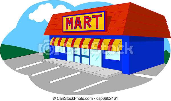 Supermarkt gebäude clipart  Kaufmannsladen Stock Illustrationen. 231.209 Kaufmannsladen ...