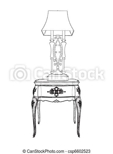Table And Lamp - csp6602523