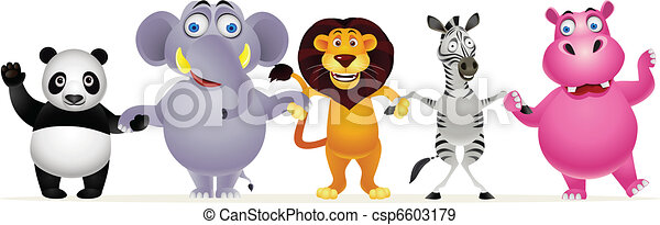 Animal cartoon group - csp6603179