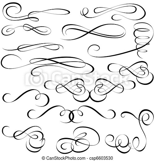 Calligraphic elements - csp6603530