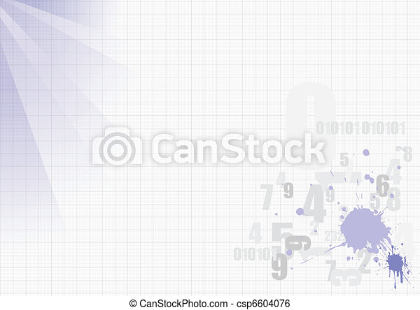 Grunge blot template with place fo - csp6604076