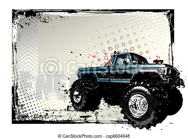 monster truck poster - csp6604648