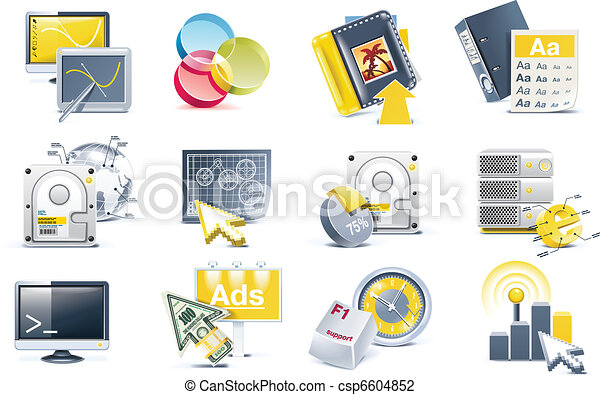 Vector website development icon set - csp6604852