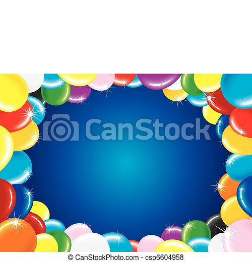 Birthday Balloons - csp6604958