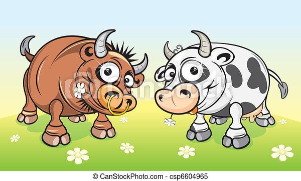 Cartoon Farm - csp6604965