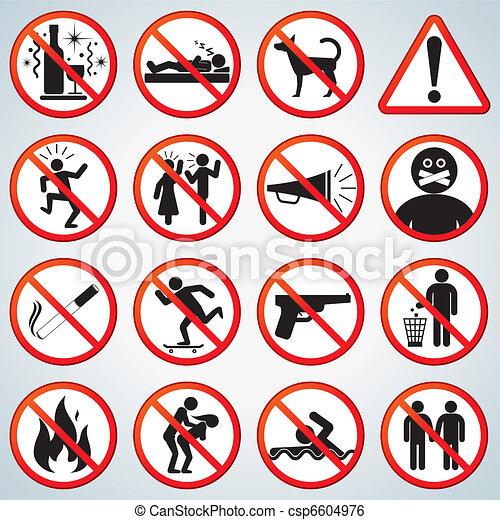Forbidden Icons Set - csp6604976