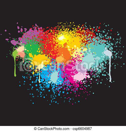 Paint Splashes - csp6604987
