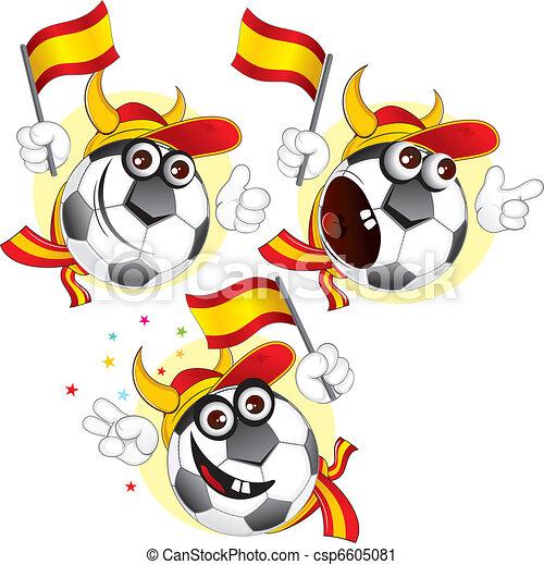 Spanish cartoon ball - csp6605081