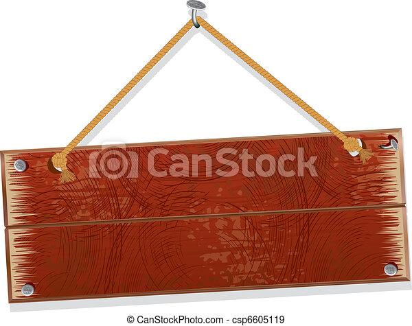 Wooden board - csp6605119