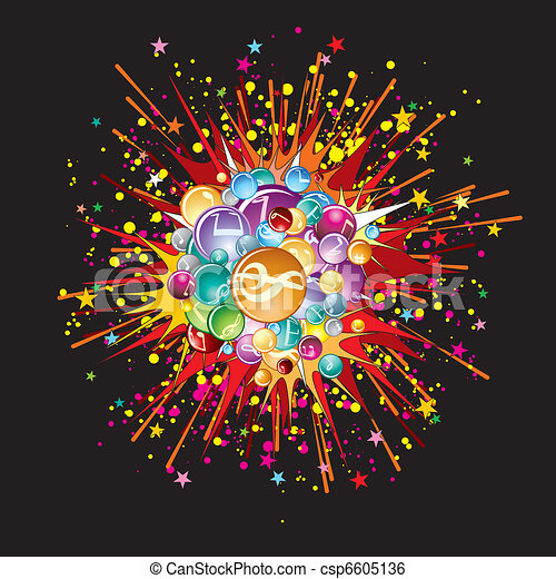 Music explode - csp6605136