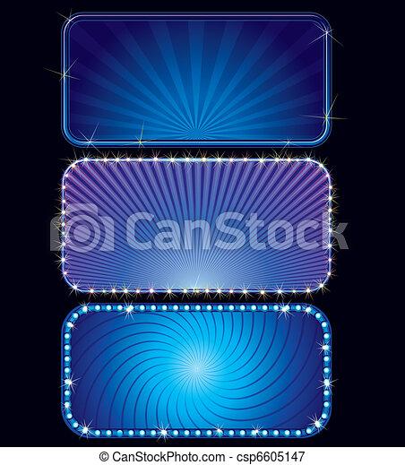 Blue Marquee - csp6605147