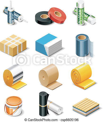 Vector building products icons. P.2 - csp6605196