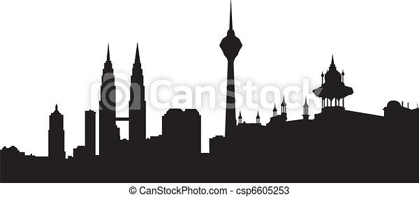 Skyline Kuala lumpur - csp6605253