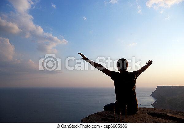 Man on the edge - csp6605386