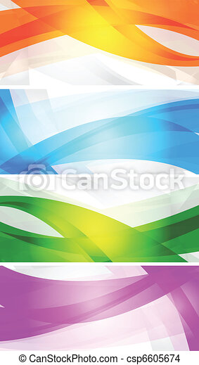 Set of vibrant banners - csp6605674