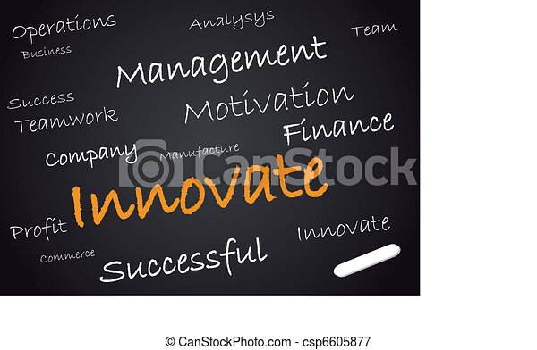 Innovate on chalkboard - csp6605877