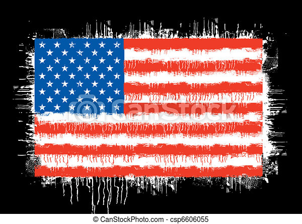grunge flag of the united states of america - csp6606055